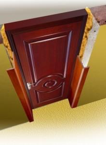 Откосы входной двери панелями мдф