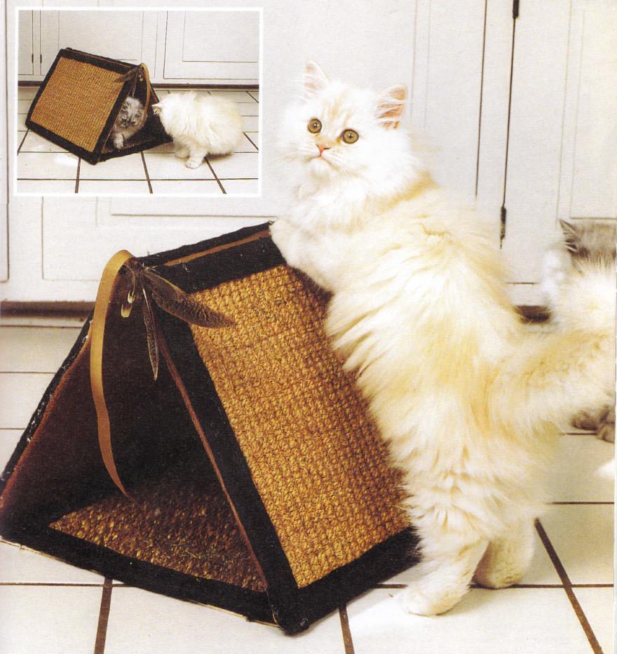 Кошка из картона своими руками