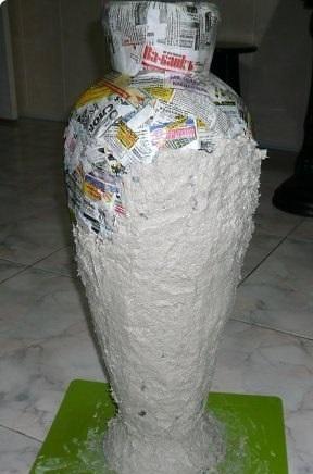 Как сделать вазу из картона своими руками видео