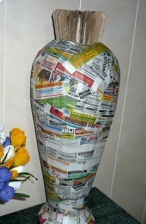 Как сделать вазу из папье-маше своими руками
