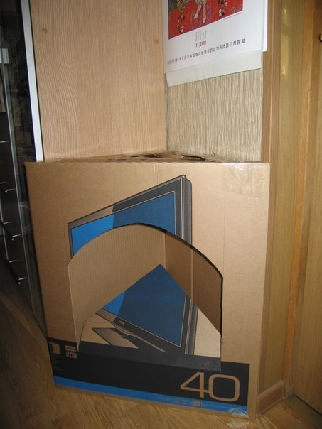Камин из картонной коробки своими руками пошаговая инструкция
