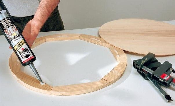 Как сделать круг на дереве 738