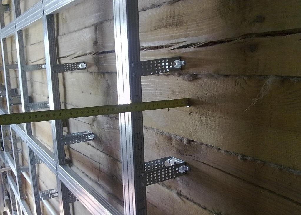 Стены из гипсокартона в деревянном доме своими руками видео