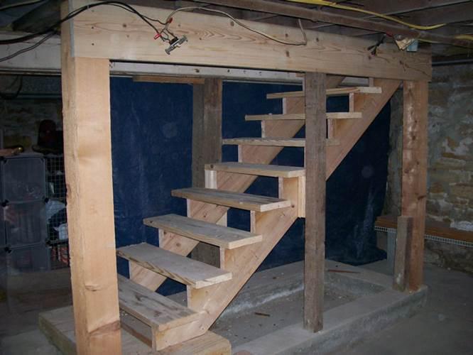 Лестница в подвал своими руками фото