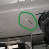 В барабан стиральной машинки попал посто