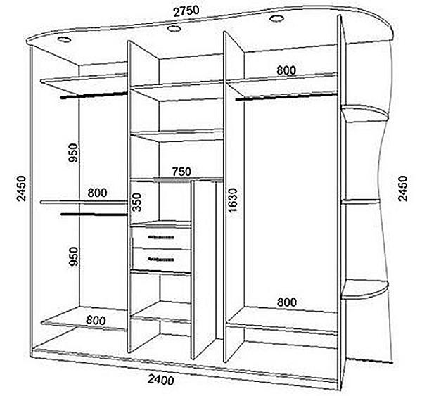 Схема установки шкафа купе фото 733