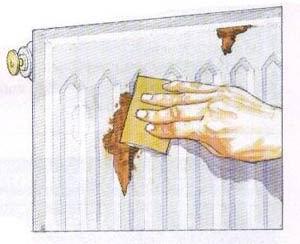 Как убрать ржавчину с батареи отопления